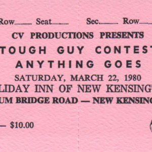 Tough Guys ticket